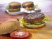 Hamburgers with buns