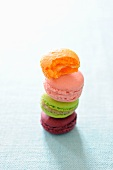 Assorted macaroons, stacked