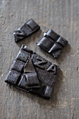 Licorice squares, broken up