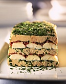 Goose liver terrine with parsley