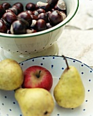 Chestnuts, apples and pears
