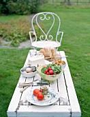 A snack on a garden table