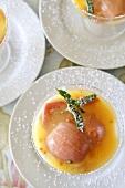 Guava vanilla pudding