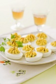 Deviled Eggs (hard-boiled eggs filled with curry cream)
