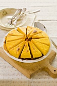 A vegetable pie with polenta