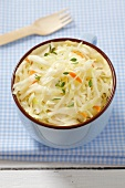 White cabbage salad with carrots