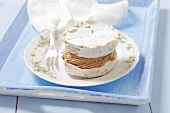 A meringue tart with coffee cream
