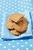 Wholemeal biscuits on a cloth
