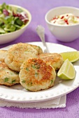 Fish cakes with chilli and lime mayonnaise