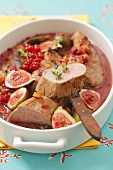 Pork fillets with redcurrants and figs