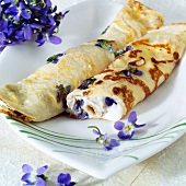 Pancakes with violets