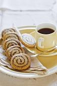 Cinnamon rolls and tea