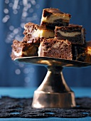 Marbled brownies with pecan nuts