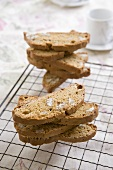 Ginger and pecan nut biscotti