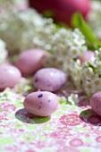 Spiraea with sugar eggs