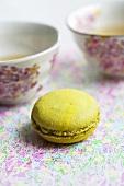 Grüner Tee Macaron