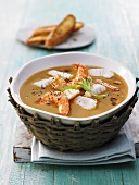 Breton fish soup with prawns