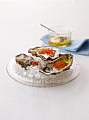 Ostriche alla Sante (oysters alla Santa, Italy)