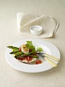 Asparagi con capesante alla griglia (asparagus with grilled scallops)
