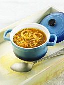 Arroz caldoso (rice stew, Spain) with squid