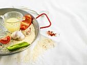 Zutaten für spanisches Reisgericht