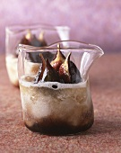 Fig cream with fresh figs