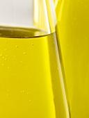 Bottles of olive oil (close-up)