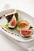 Goats cheese and figs with fleur de sel