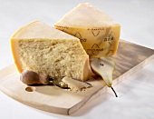 Grana Padano with a cheese knife