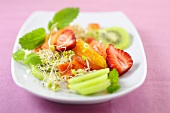 Fruit salad with bean sprouts