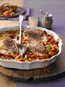 Chicken breast with an autumnal ratatouille