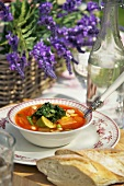 Vegetable soup with pistou (France)