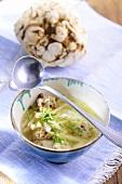 Cellery soup with bacon dumplings