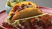 Taco-Shells mit Hackfleisch und Avocado