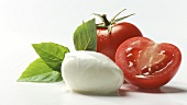Tomatoes, mozzarella and basil