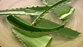 Aloe vera leaves in water