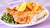 Fish and Chips mit Erbsen