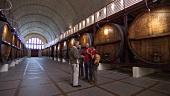 Kleinere Gruppe besichtigt einen Weinkeller in Western Cape, Südafrika
