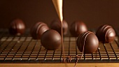 Decorating chocolates with chocolate