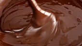 Stirring melted chocolate