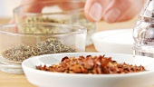 Chilli flakes, thyme and oregano