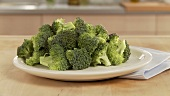 Broccoli florets on a plate