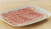 Rashers of bacon on a plate