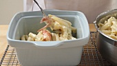 Macaroni and cheese with lobster (US-English Voice Over)