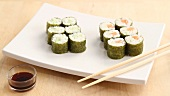 Making maki sushi (English Voice Over)