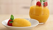 Passion fruit sorbet being prepared (German Voice Over)