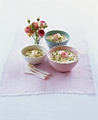 Moroccan rice pudding with pistachios and petals