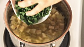 Ramson soup being prepared (German Voice Over)