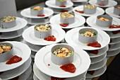 Preparing dish, Seafood salad, Divinus Catering, San Sebastian, Donostia, Gipuzkoa, Euskadi, Spain