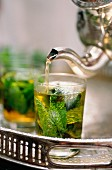 Tea time, Riad Maison Bleue, Fes, Morocco